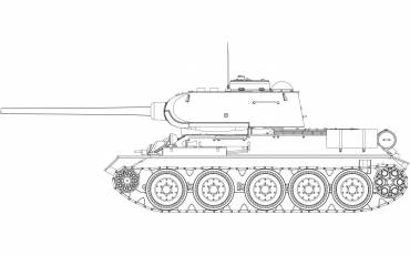 A1361 t34-85-112-factory-production line-art
