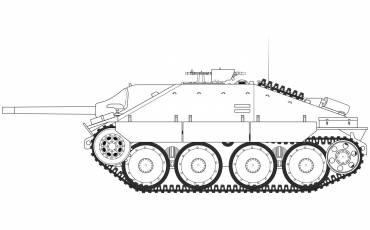 A1353 jagdpanzer-38-tonne-hetzer-late-version line-art